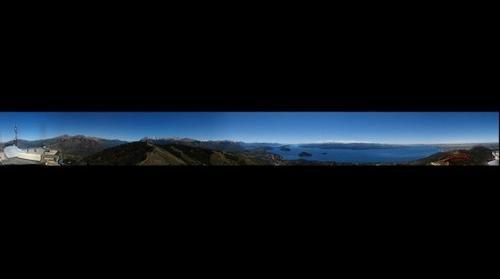 Bariloche y lago Nahuel Huapi desde Cerro Otto