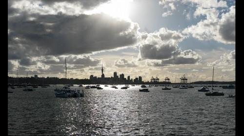 Auckland Skyline From Tamaki Drive