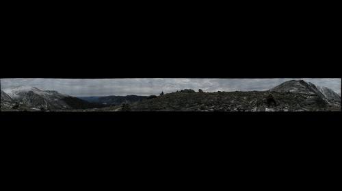 View of Tuckerman's Ravine from Boott Spur near Mt Washington