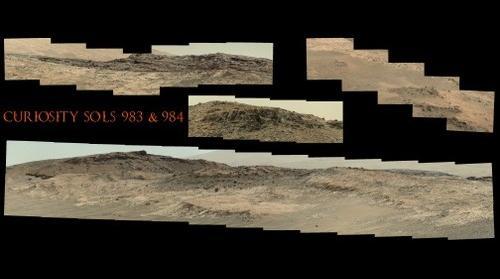 Curiosity Sols 983 & 984