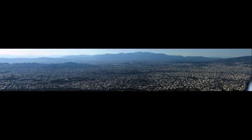 Πανόραμα της Αθήνας από τον Υμηττό