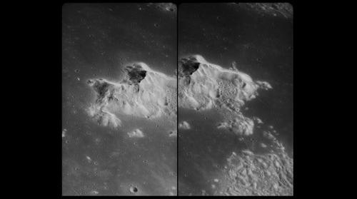 AS15-P-8973 & 8975 Tsiolkovsky's central mound