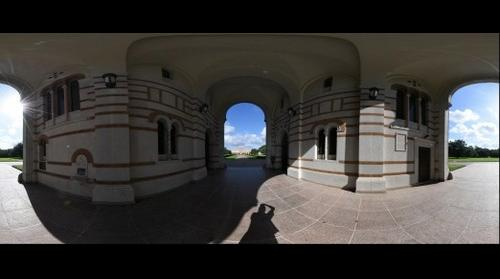 Lovett Hall SallyPort - 15mm Fisheye Lens Spherical Panorama  - Rice University