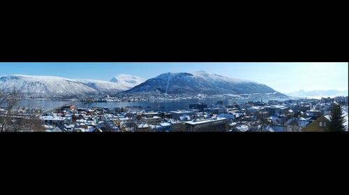 Tromsdalen from the Tromso island