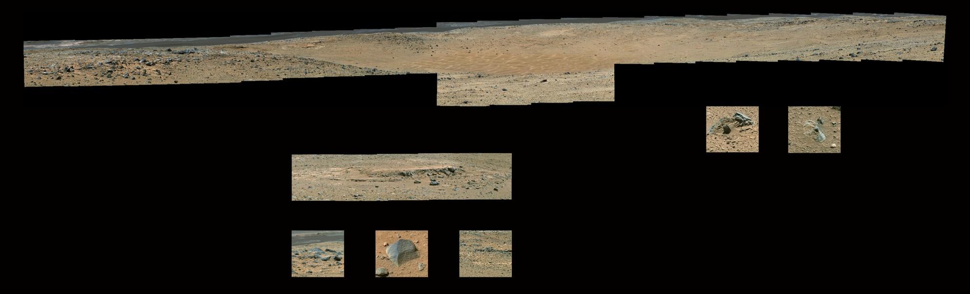 Curiosity Rover Sol 426 & 431 Composites