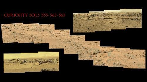 Curiosity Sols 555 563 and 565