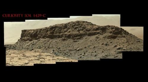 Curiosity Sol 1429-C  The Wall of Faces