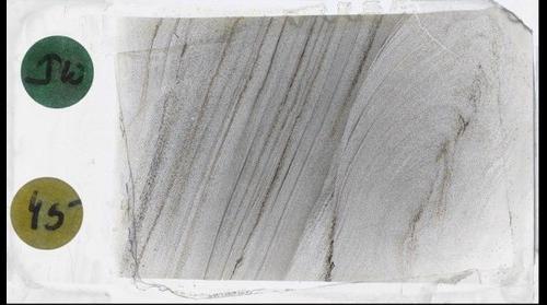 "Dismembered, Folded Sandstone (""Ploudin"") from Corridor H, WV, Plane Polars"
