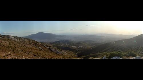 Πανόραμα της Αθήνας  από το Πεντελικόν όρος