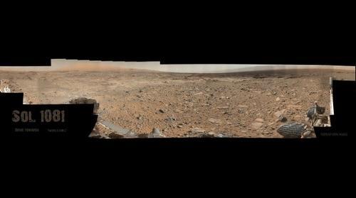 "MSL Curiosity Rover - Sol 1081 ""Drive Towards 'Bagnold' Dunes"" Mastcam Composite"