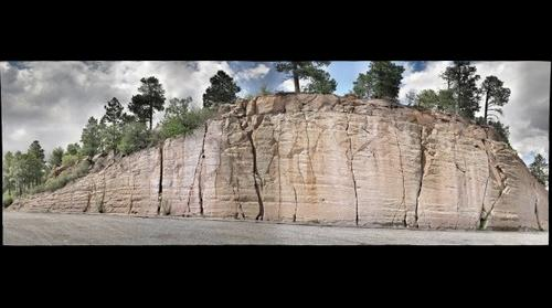 Outcrop outside Valles Caldera (NM)