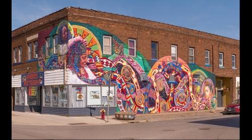 """""""Braided"""" mural by Greta McLain"""