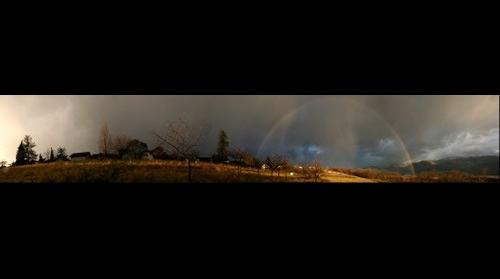 Rainbow on Gresivaudan Alps France
