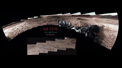 MSL Curiosity Rover SOL 1378 MastCam & Navcam Composite