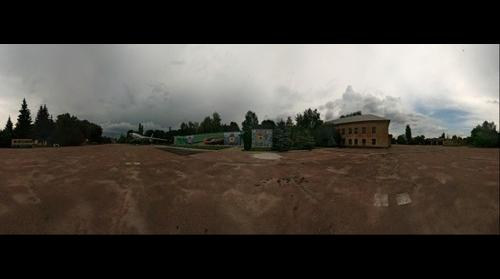 Main Square of the former military camp 12. Before the storm.
