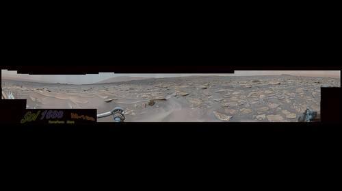 MSL Curiosity Rover - Sol 1688 Mastcam Composite