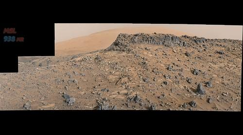 MSL Curiosity Rover - Sol 938 Right Mastcam Composite (Jpeg w/filters @ 150%)