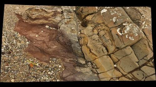 Igneous/sedimentary contact, Arran