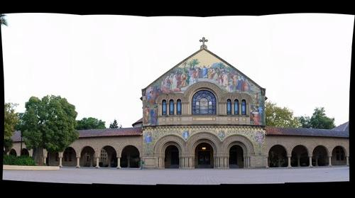 Stanford Memorial Church view from courtyard
