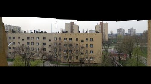 View of Osiedle II Pulku Lotniczego in Krakow, Poland