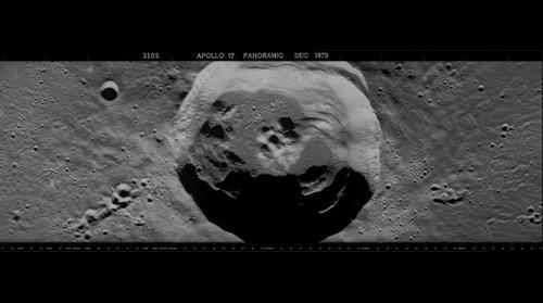 Euler Crater Composite from AS17-P-3105, Tile 4 & 5