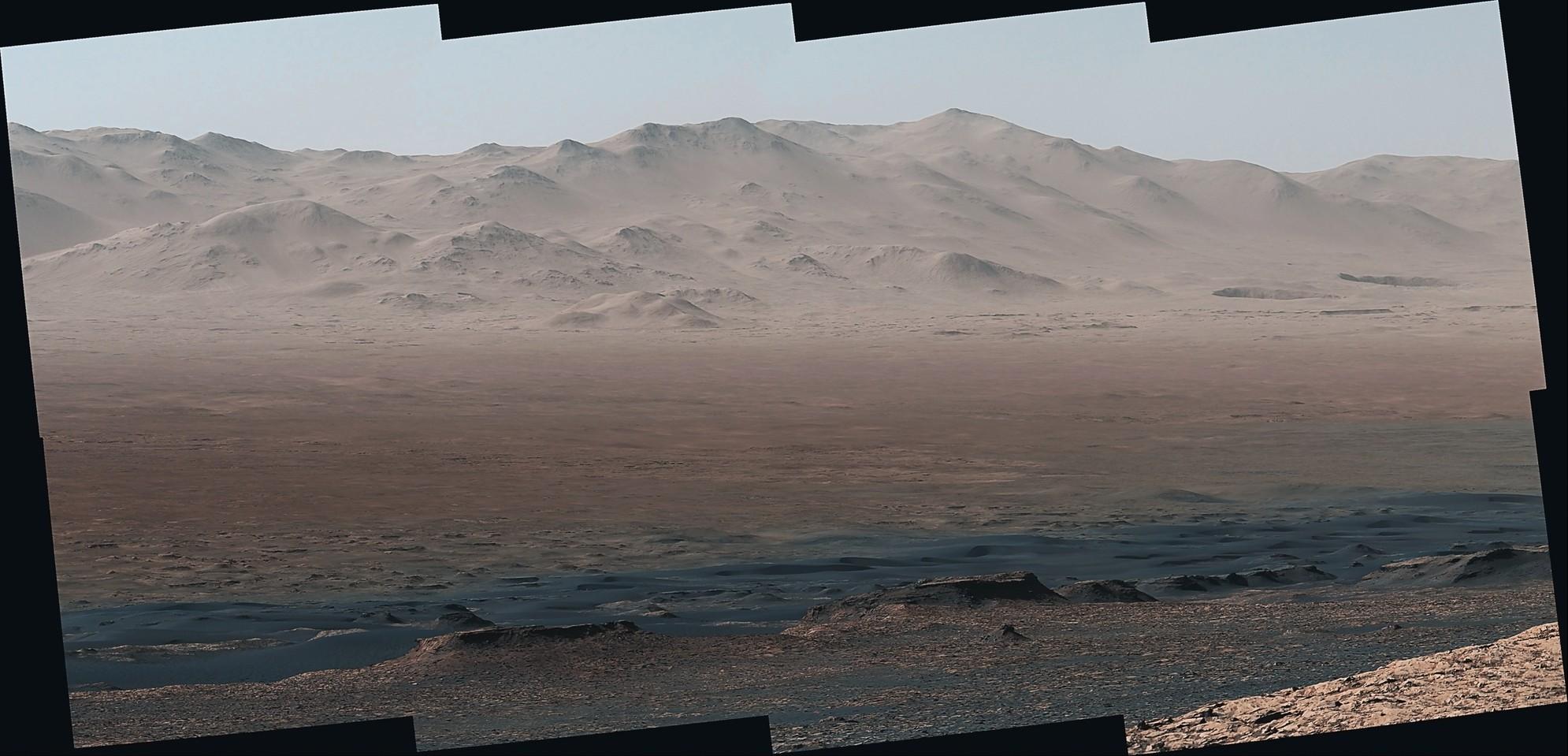 Curiosity Rover -  Sol 1856 - Right Mastcam Composite - Enlarged