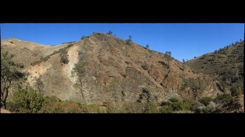 Complex Geologic Relations in Del Puerto Canyon