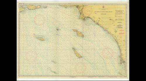 San Diego to Santa Rosa Island nautical map (1939)