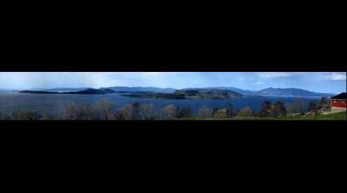 Halsnøy, utsikt vest og nord