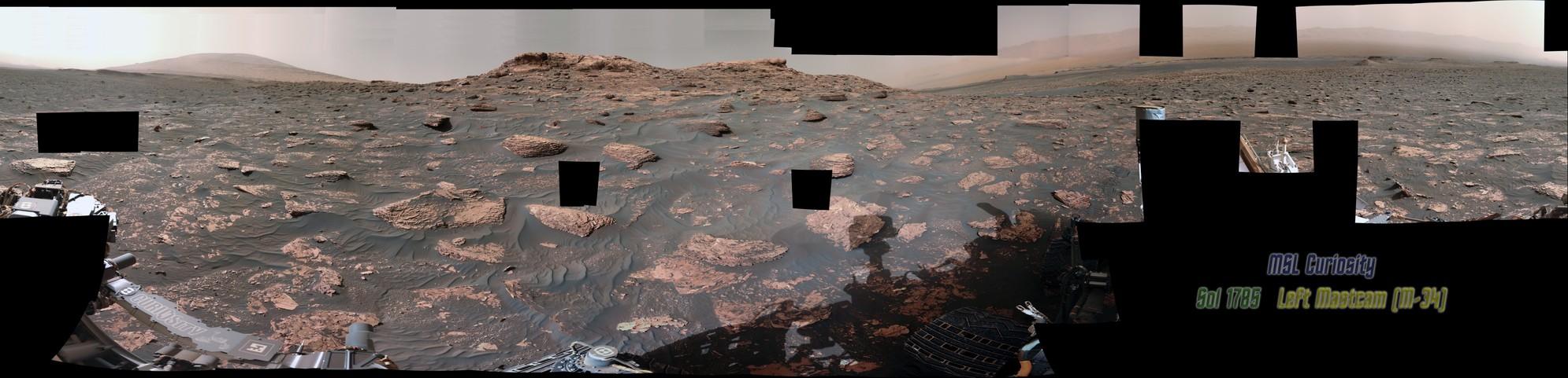 MSL Curiosity Rover - Sol 1785 - M34 - Left Mastcam  (Pds)