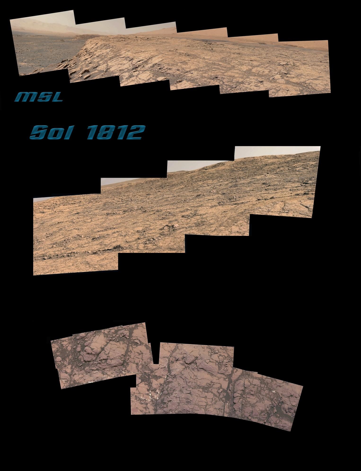 MSL Curiosity - Sol 1812 - Mastcam Composite [Pds]