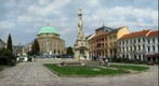 Szechenyi Square in Pecs, Hungary