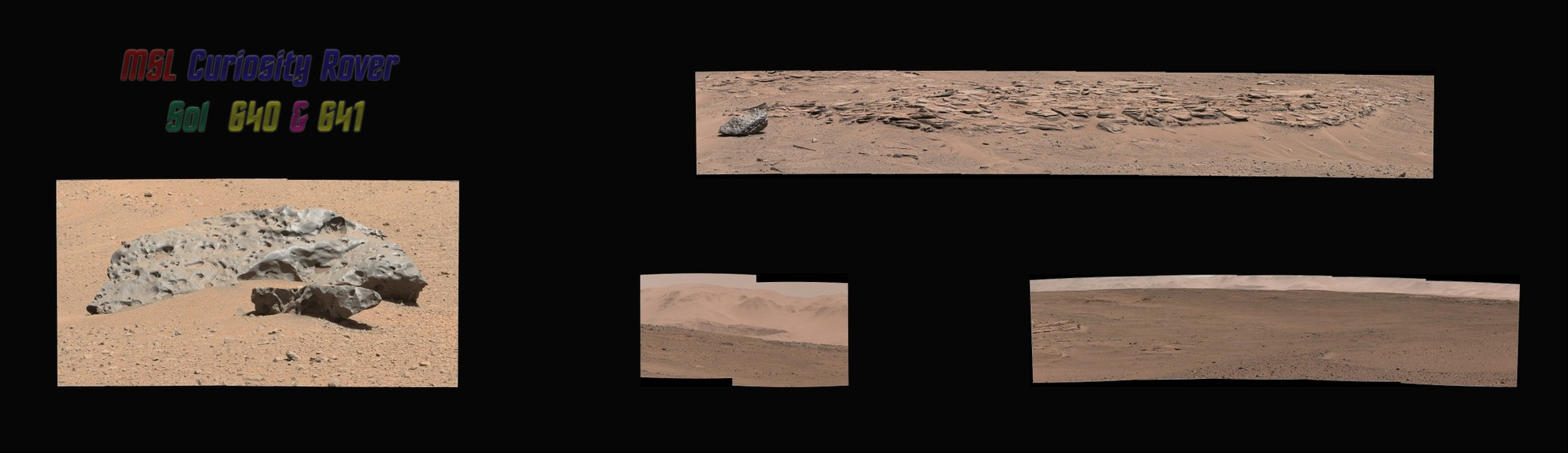 MSL Curiosity Rover Sol 640 & 641 Right & Left Mastcams [Jpeg W/filters]