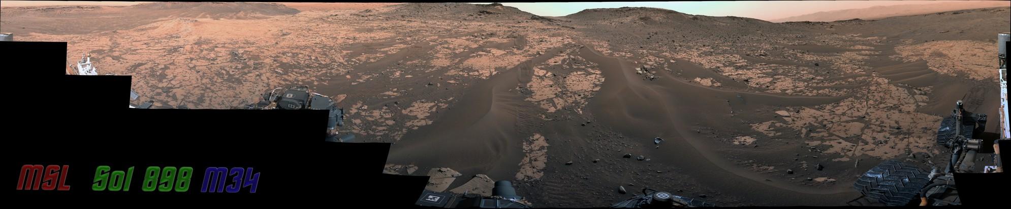 MSL Curiosity Rover - Sol 898 Left Mastcam Mosaic (126 Images) [PDS]