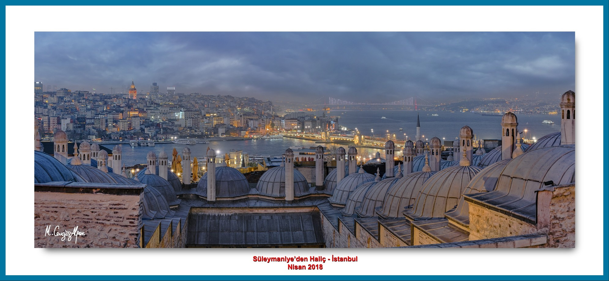 Golden Horn From Süleymaniye (2) - İstanbul - TURKEY