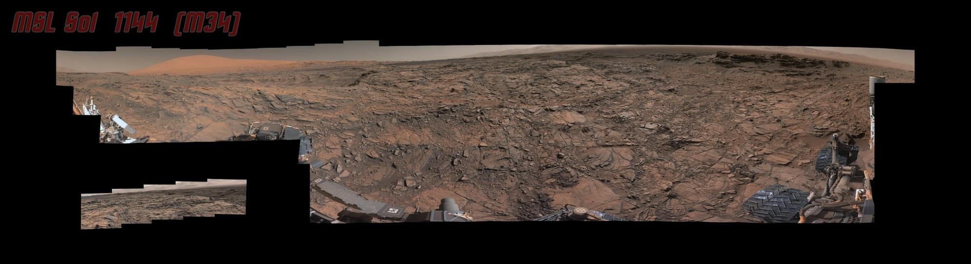 MSL Curiosity Rover - Sol 1144 Left Mastcam (M-34) Pds Composite