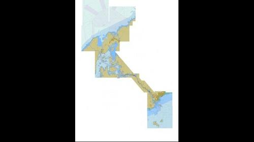 Panama canal nautical chart