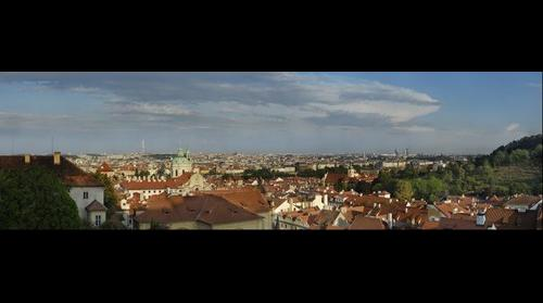 Prague from Prague castle