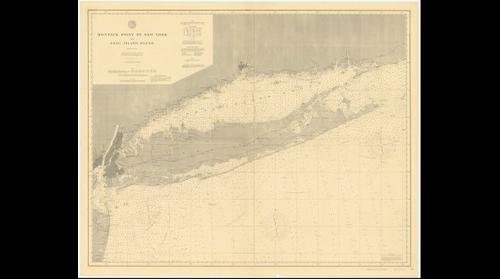 Montauk Point to New York and Long Island nautical map (1896)