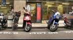 Motorcycles on a London Street (b7)