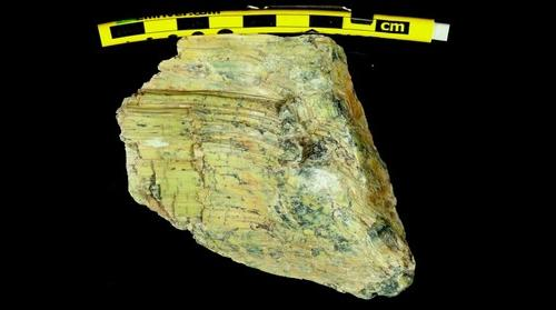 Slickenfibers in serpentenite