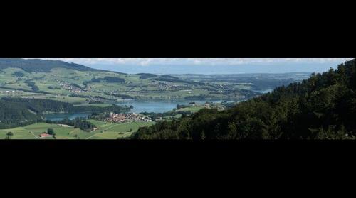 Corbières, Le Lac de la Gruyere et le Gibloux