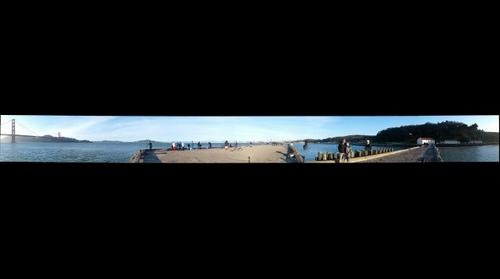 San Francisco Warming Hut Pier Panorama
