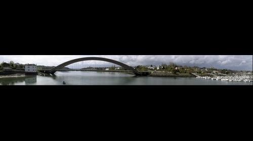 Treguier, le pont Canada