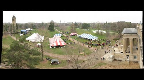 Iowa State VEISHEA Village - From the roof of Curtiss Hall #2