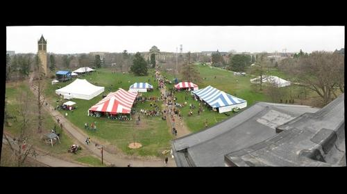 Iowa State VEISHEA Village - From the roof of Curtiss Hall #1