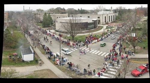 Iowa State VEISHEA Parade - From the top of Gilman Hall #1