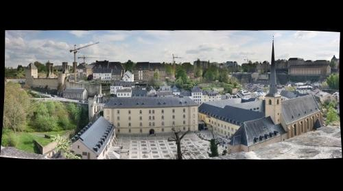 View from the casamates in the center of Luxembourg