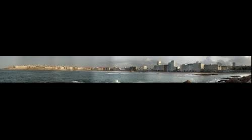 Playa de Orzán y Riazor en A Coruña