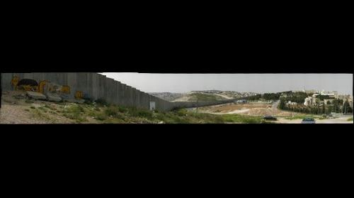 Israeli Wall cuts through Jerusalem 1 (photo from Abu Dis)